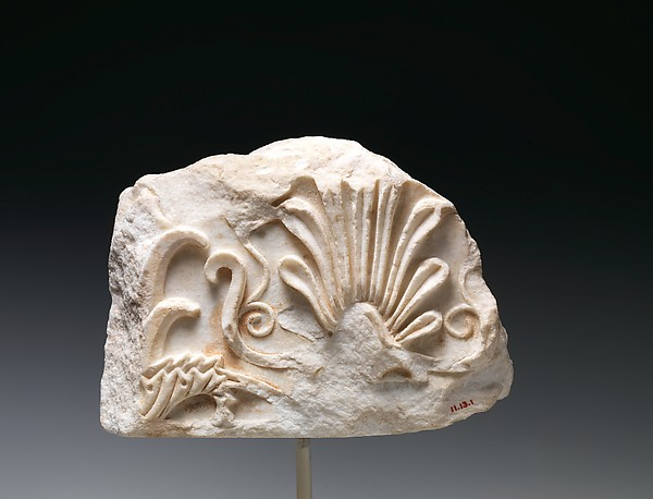 Marble architectural fragment