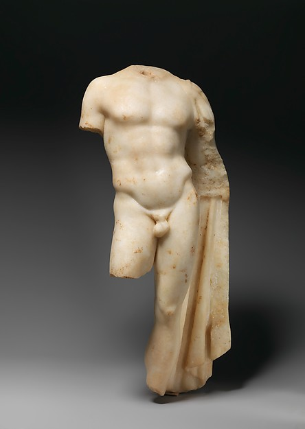Marble statue of a youth