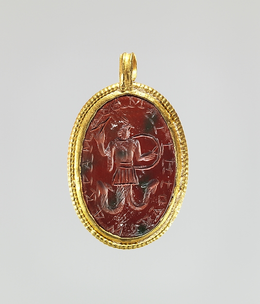 Jasper intaglio: Cock-headed anguipede
