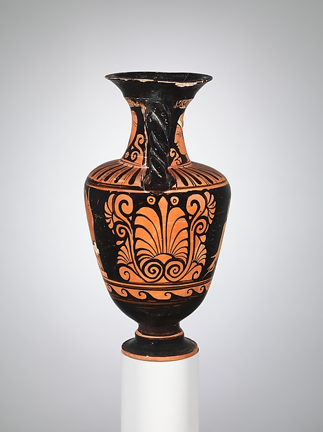 Terracotta neck-amphora with twisted handles (jar)
