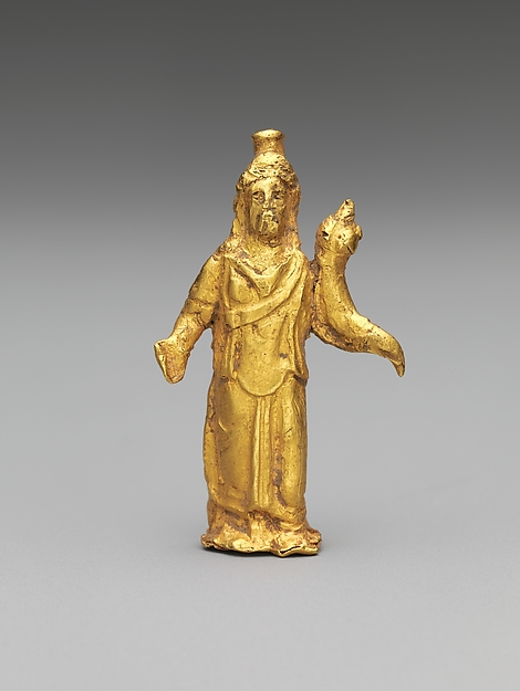 Gold statuette of Zeus Serapis