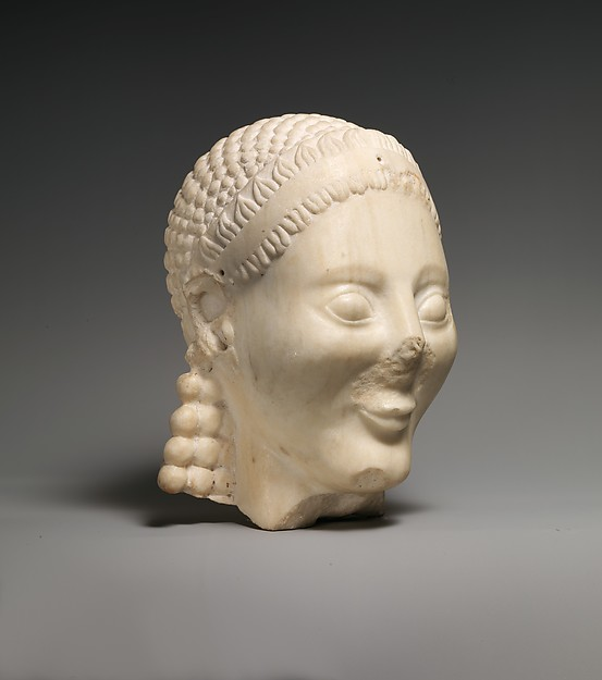 Marble head of a kouros (youth)