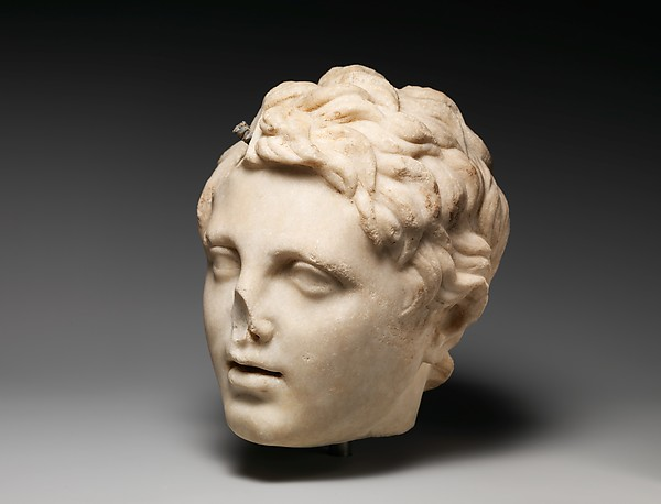 Marble head of a boy