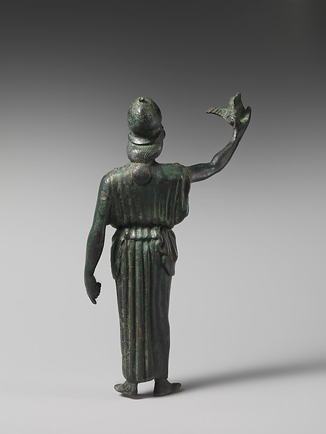 Bronze statuette of Athena flying her owl