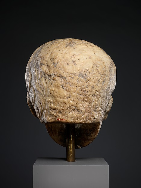 Marble portrait of the emperor Augustus