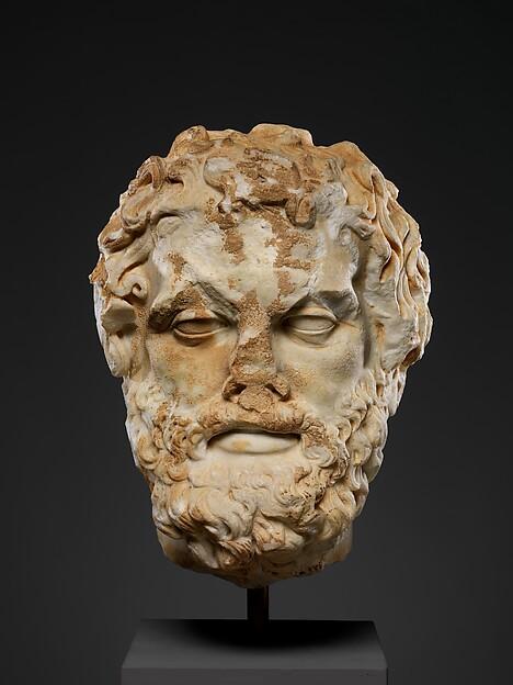 Marble head of a bearded man