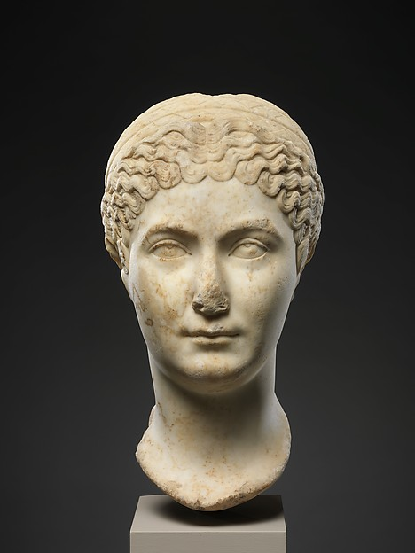 Marble portrait of  Matidia Minor