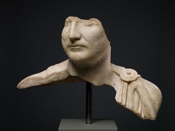Marble male portrait bust