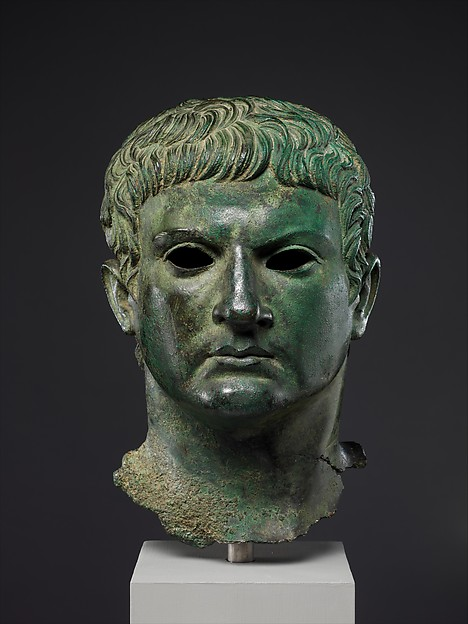 Bronze portrait of a man, identified as M. Agrippa