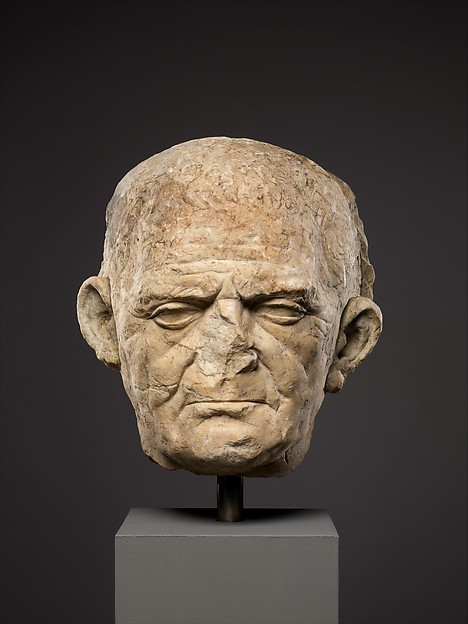 Marble portrait of a man from a funerary relief