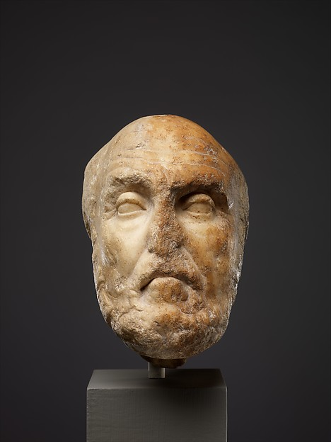 Marble portrait head of the philosopher Chrysippos