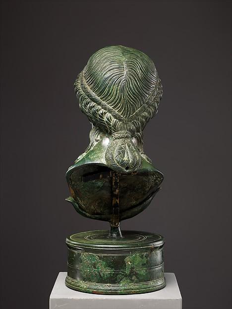 Bronze portrait bust of a Roman matron