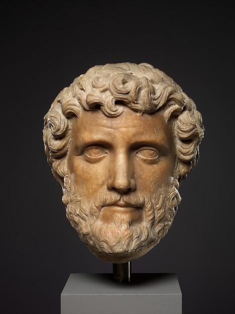Marble portrait bust of Antoninus Pius