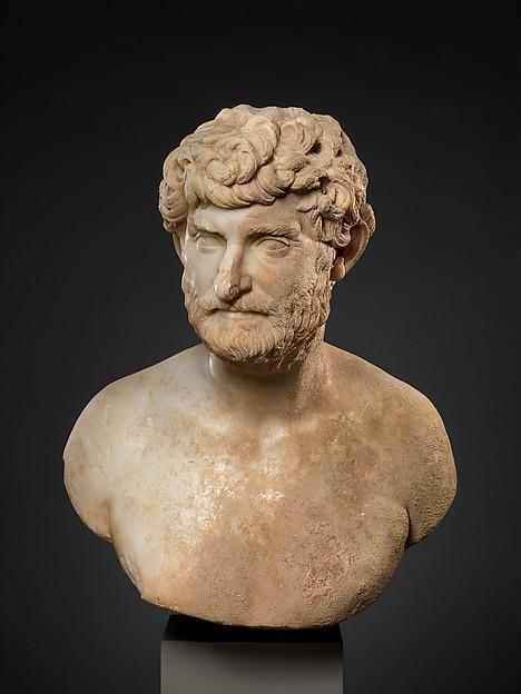 Marble bust of a bearded man