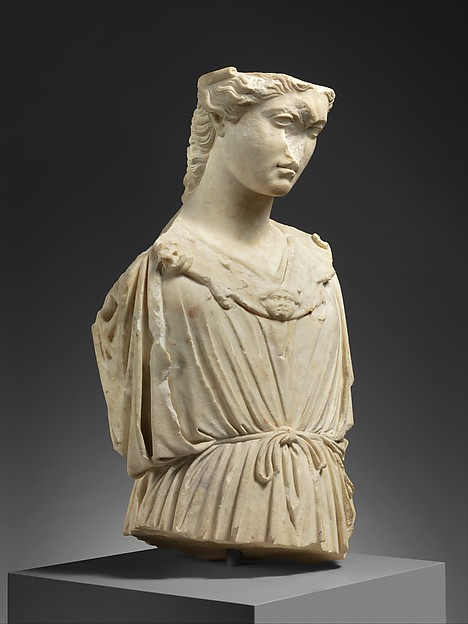 Marble head and torso of Athena