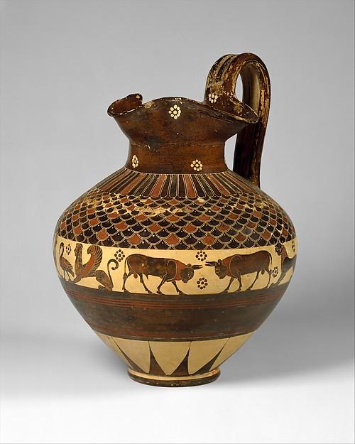 Terracotta oinochoe (wine jug)