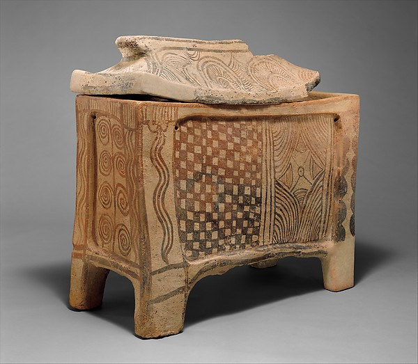 Terracotta larnax (chest-shaped coffin)