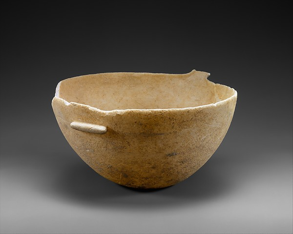 Marble spouted bowl