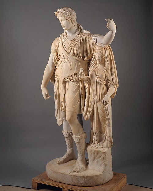 "Statue of Dionysos leaning on a female figure (""Hope Dionysos"")"