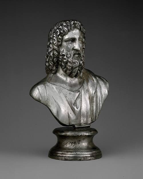Silver bust of Serapis