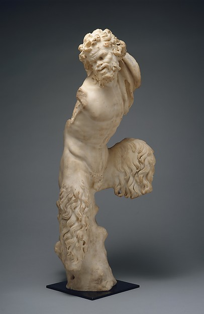 Marble statue of Pan