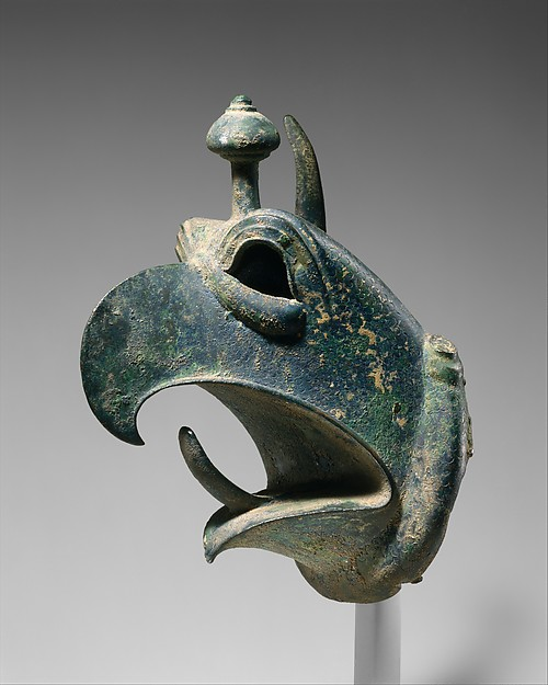 Bronze head of a griffin