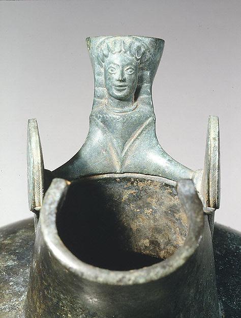 Bronze oinochoe