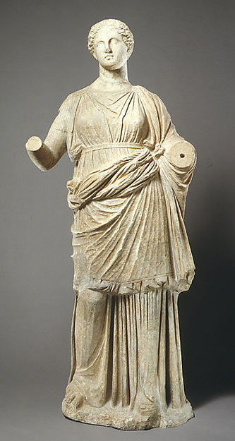 Marble statue of a woman