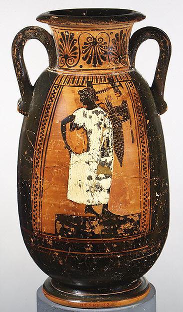 Terracotta neck-pelike (wine jar)