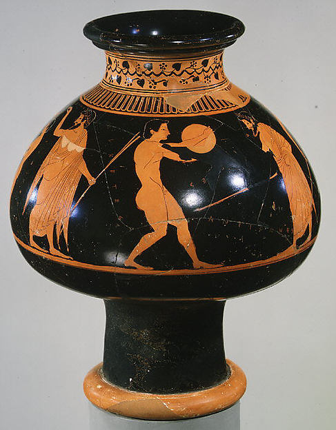 Terracotta psykter (vase for cooling wine)
