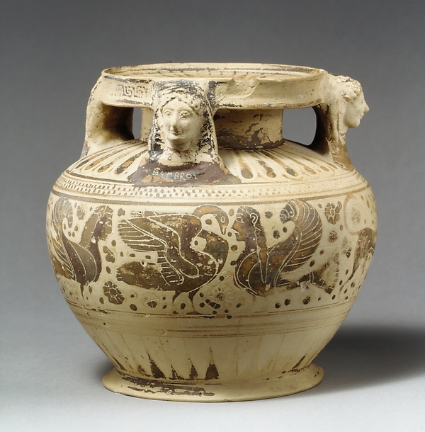 Terracotta pyxis (cosmetic box)