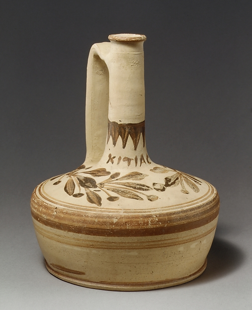 Terracotta lagynos (pitcher)