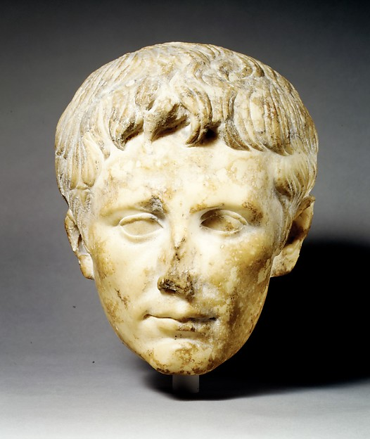 Marble portrait of the emperor Augustus