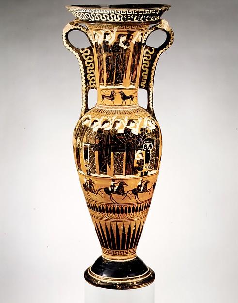 Terracotta loutrophoros (ceremonial vase for water)