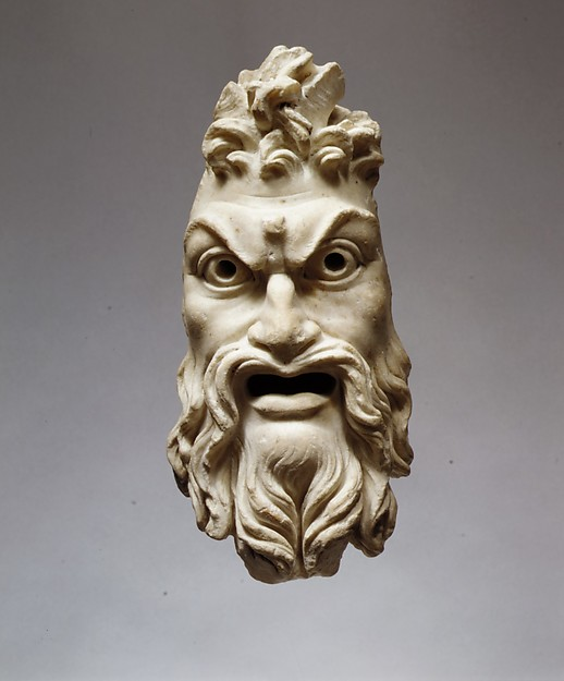 Marble mask of Pan