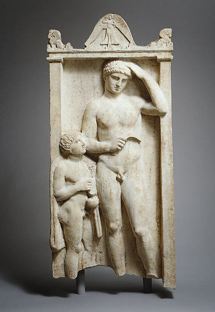 Marble stele (grave marker) of Sostratos