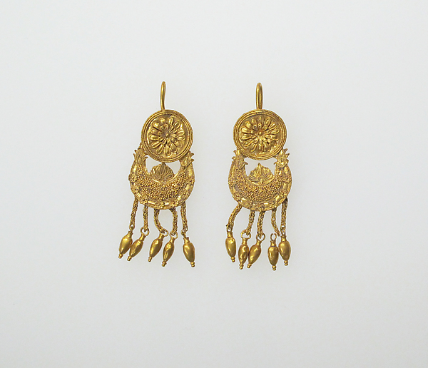 Earring with pendants