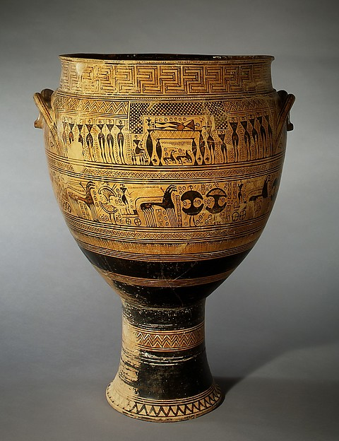 Cratera de terracota, Metropolitan Museum of Art