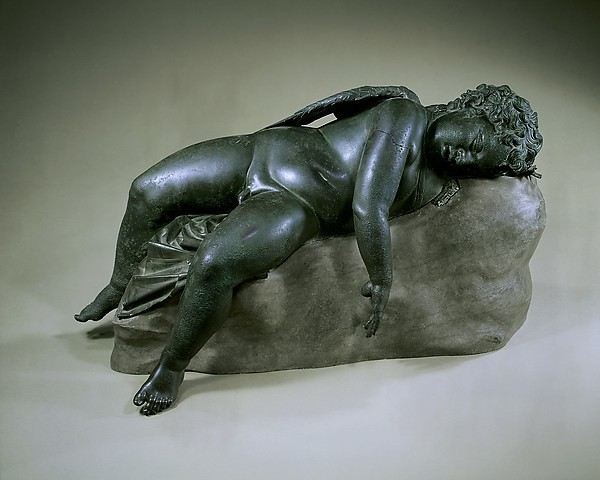 Bronze statue of Eros sleeping