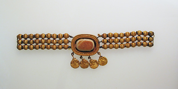 Necklace with palmette pendants
