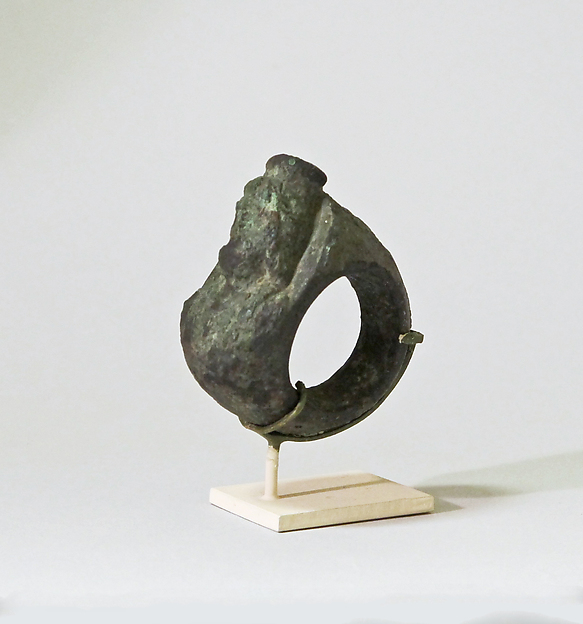 Bronze ring with bust of Serapis