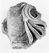 Marble fragment of an Ionic column capital from the Temple of Artemis at Sardis