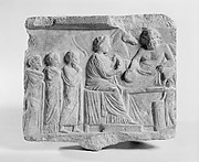 Marble votive relief dedicated to a hero