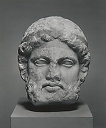 Marble head from a herm