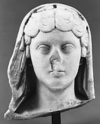 Marble portrait of the Empress Faustina the Younger, wife of the emperor Marcus Aurelius