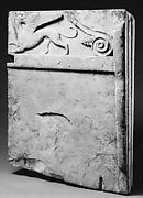 Marble table leg (trapezophoros) with reliefs of griffins