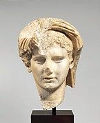Marble head of a veiled man