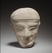 Terracotta head of a man