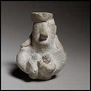 Head and upper body of a female figurine