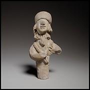 Terracotta statuette of a woman